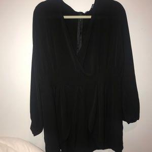 Black Plus Size Romper
